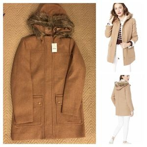 New J.Crew hooded Vail parka